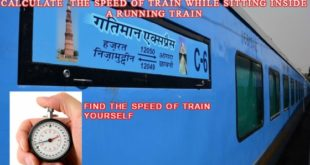 calculate speed of train