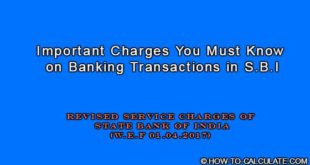 service charge SBI