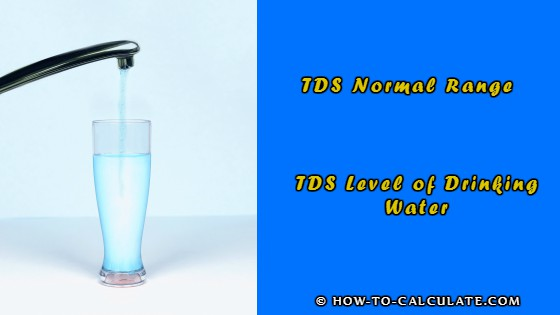 tds level of drinking water