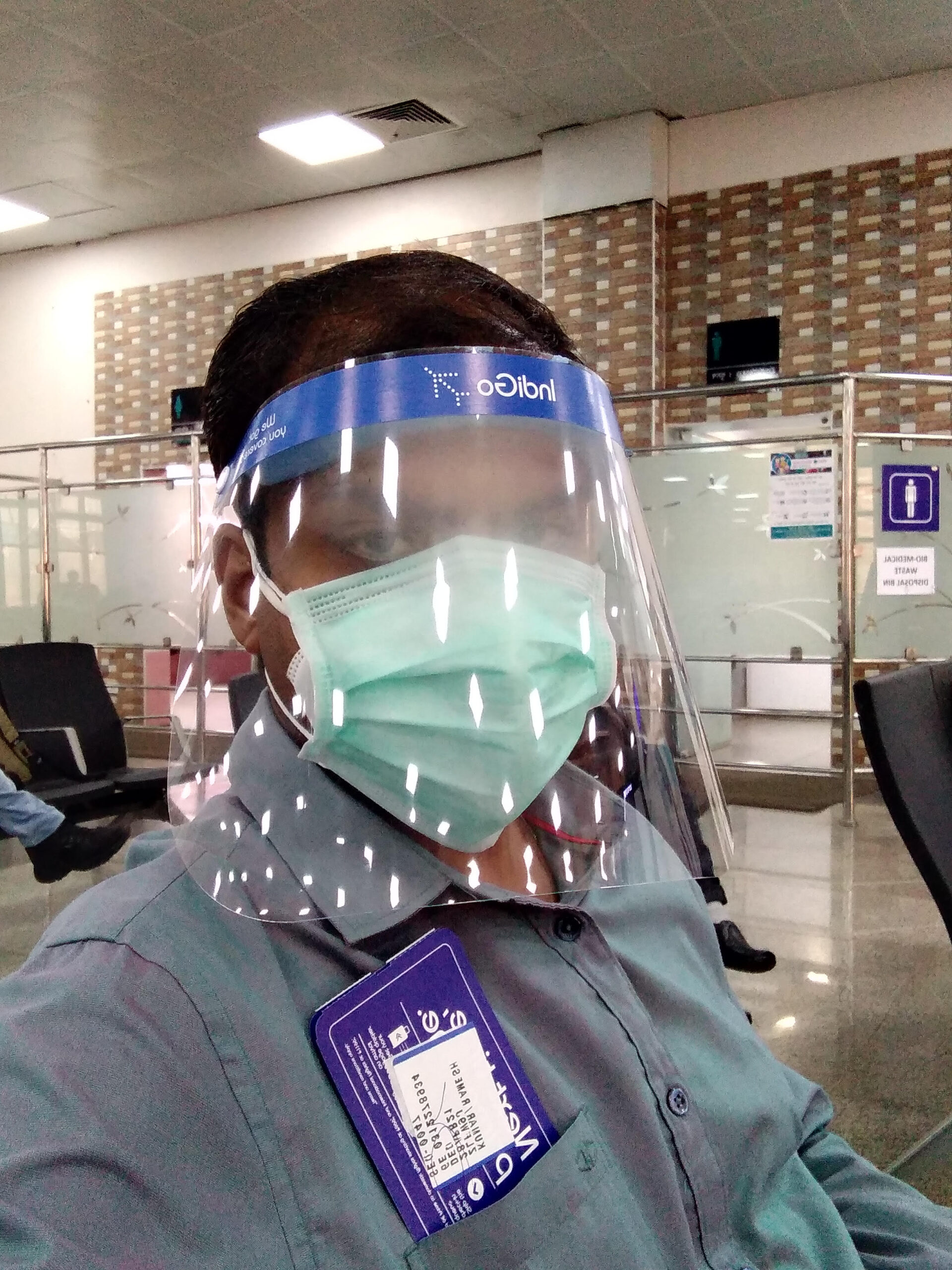 Covid protection at Airport